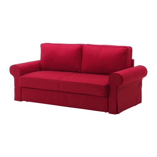 Backabro divano letto a 3 posti nordvalla rosso ikea for Divano bordeaux