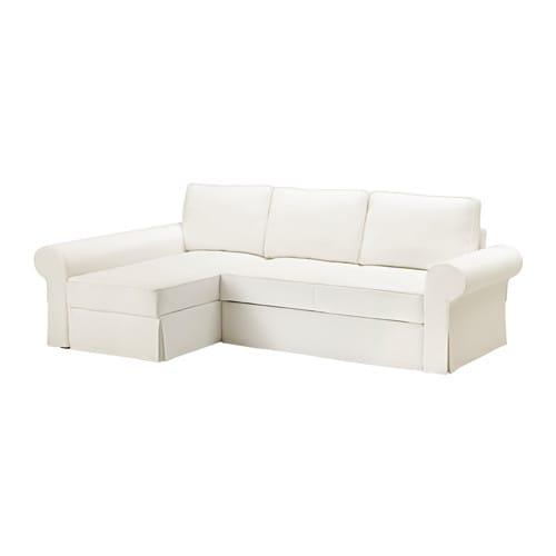 Backabro Divano Letto Con Chaise Longue Hylte Bianco Ikea