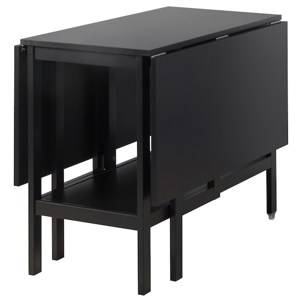 Ikea Tavolo Consolle Allungabile.Barsviken Tavolo Con Ribalte Nero Ikea