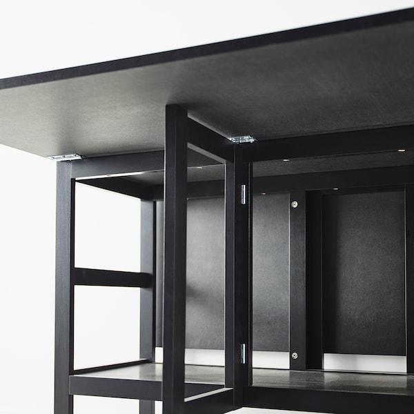Porta Sedie Pieghevoli Ikea.Barsviken Tavolo Con Ribalte Nero Ikea