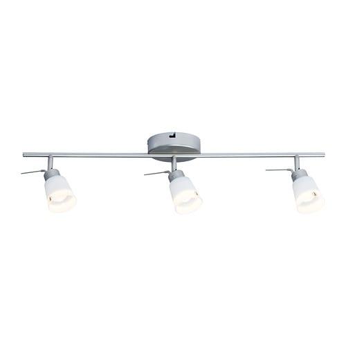 BASISK Binario da soffitto, 3 faretti - - IKEA