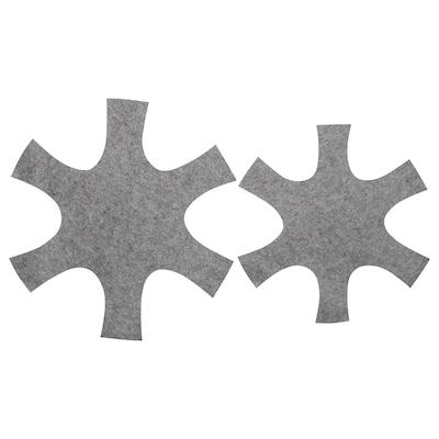 BEDÖMA Set di 2 protezioni per padella, grigio