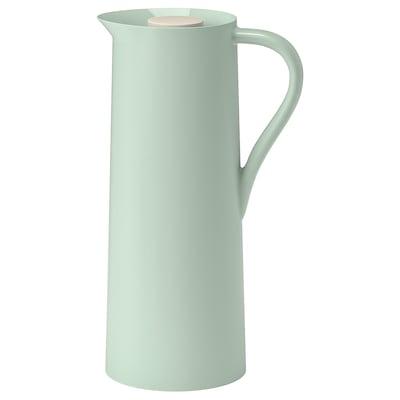BEHÖVD Caraffa termica, verde chiaro/beige, 1 l