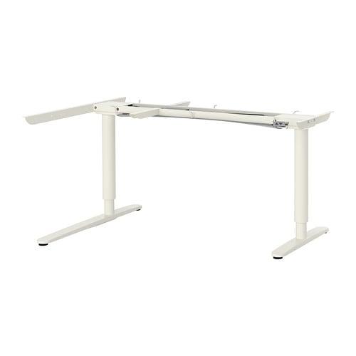 Bekant base regolabile tavolo angolare el bianco ikea for Tavolo computer ikea