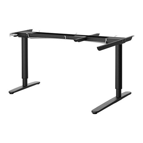 Bekant base regolabile tavolo angolare el nero ikea - Tavolo nero ikea ...