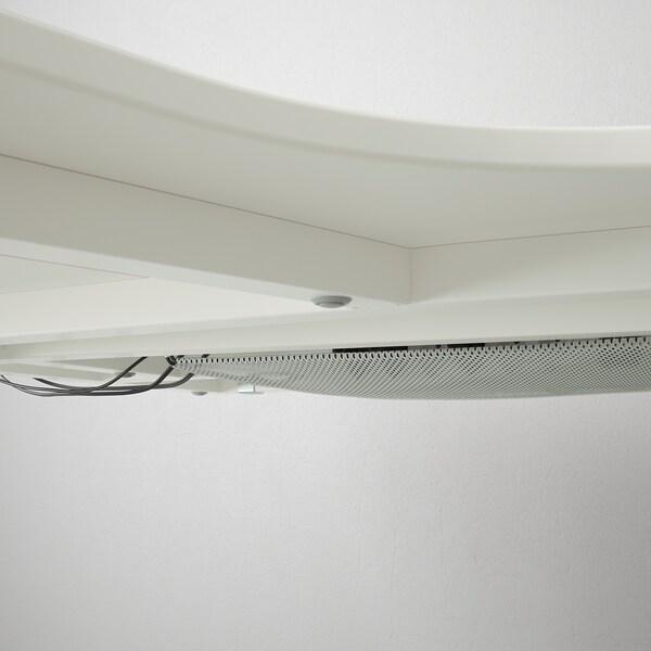 BEKANT scrivania angolare sinistra bianco 160 cm 110 cm 65 cm 85 cm 100 kg