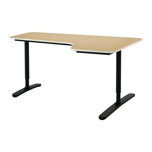 Bekant scrivania angolare destra impiallacciatura di for Scrivania ikea angolare