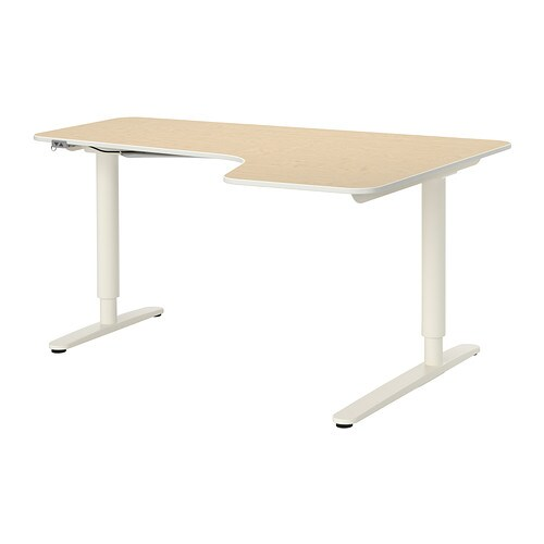 bekant scrivania angolare dx regolabile impiallacciatura