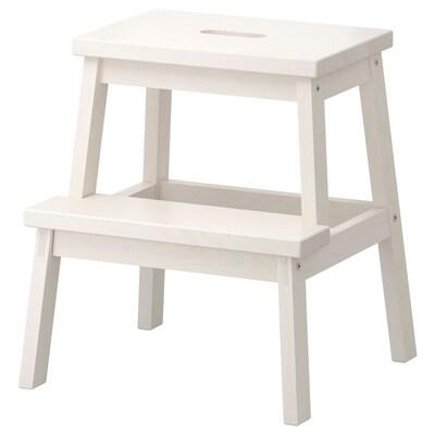 BEKVÄM Scaletta/sgabello, bianco, 50 cm