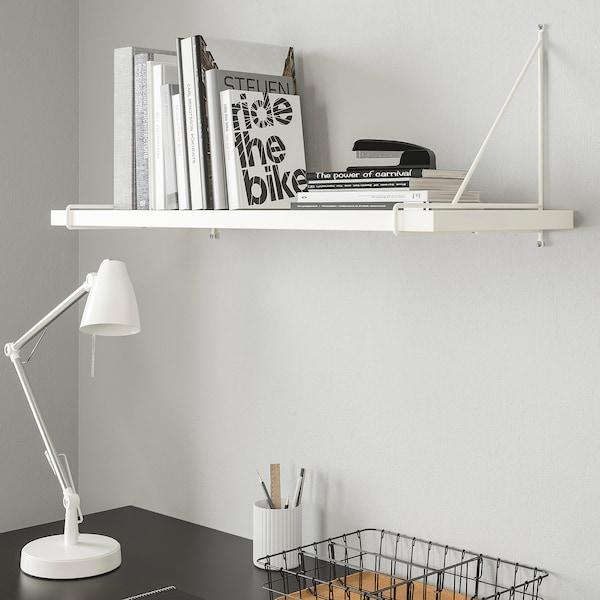 BERGSHULT / PERSHULT Mensola e staffe, bianco/bianco, 80x30 cm