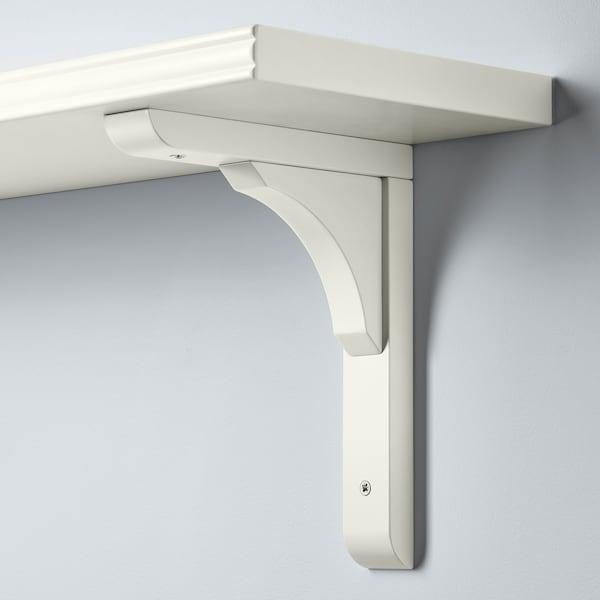 BERGSHULT / RAMSHULT Mensola e staffe, bianco, 120x20 cm