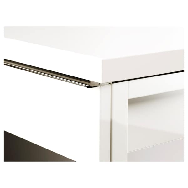 BESTÅ BURS Scrivania, lucido bianco, 120x40 cm