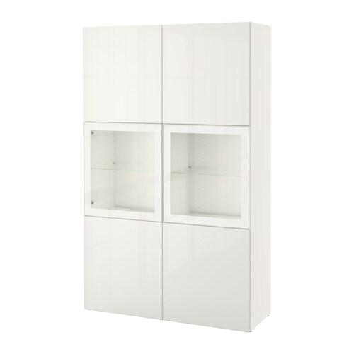 Best combinazione con ante a vetro bianco selsviken - Ikea scrivanie vetro ...