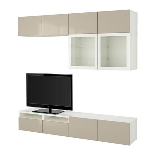 Best combinazione tv ante a vetro bianco selsviken - Ikea scrivanie vetro ...