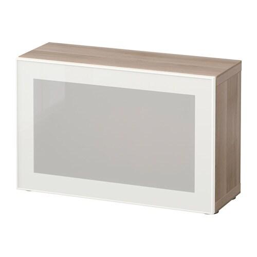 Best mobile con anta a vetro effetto noce mordente grigio glassvik vetro bianco smerigliato - Ikea besta mobel ...