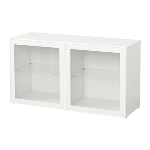 best mobile con ante a vetro bianco glassvik vetro bianco trasparente ikea. Black Bedroom Furniture Sets. Home Design Ideas