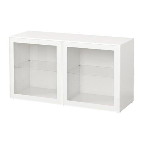 Best mobile con ante a vetro bianco glassvik vetro - Mobile bianco ikea ...