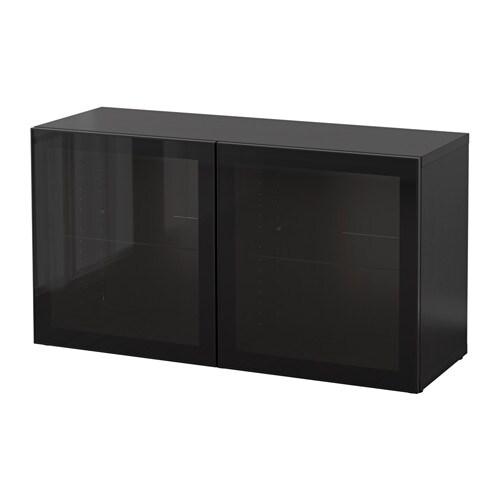 Best mobile con ante a vetro marrone nero glassvik for Vetro per mobili ikea