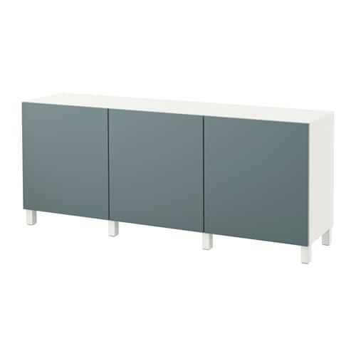Bestå Mobile Con Ante Biancovalviken Grigio Turchese Ikea