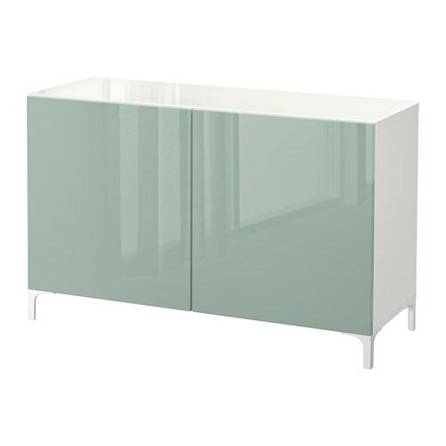 Best mobile con ante bianco selsviken grigio verde chiaro lucido ikea - Ikea besta mobel ...