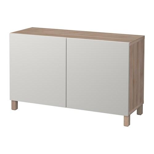 Best mobile con ante effetto noce mordente grigio lappviken grigio chiaro ikea - Ikea besta mobel ...