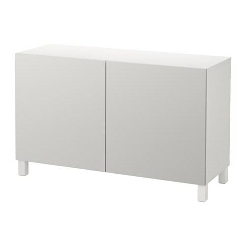 Best mobile con ante bianco lappviken grigio chiaro ikea - Ikea besta mobel ...