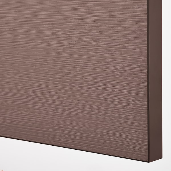 BESTÅ Mobile con ante, marrone-nero/Hjortviken marrone, 120x42x202 cm