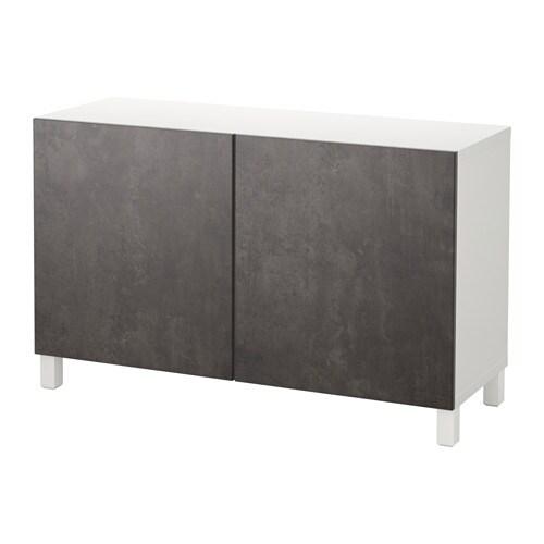 Best mobile con ante bianco kallviken grigio scuro effetto cemento ikea - Ikea besta mobel ...
