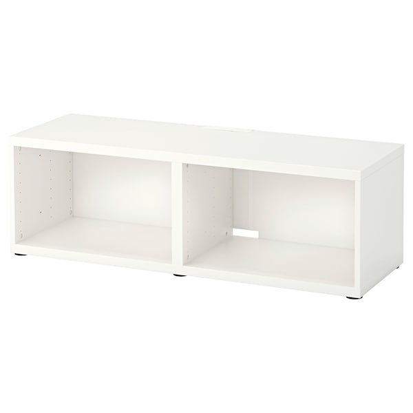 BESTÅ Mobile TV, bianco, 120x40x38 cm