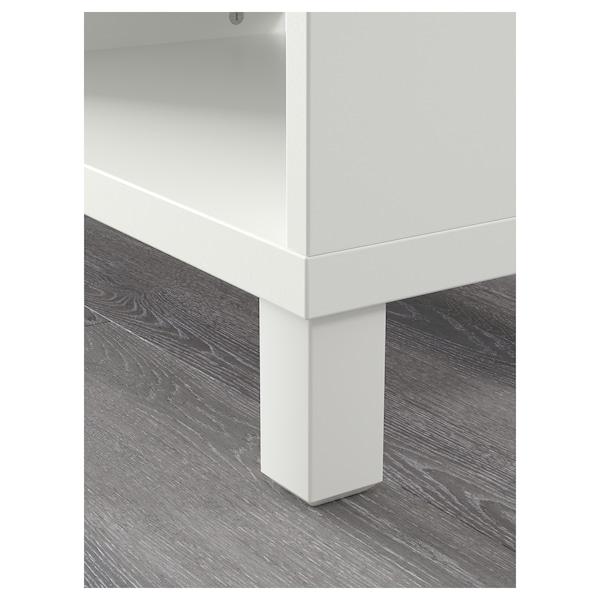 BESTÅ Mobile TV, bianco, 120x40x48 cm