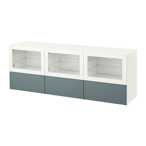 Best mobile tv con ante e cassetti bianco valviken vetro trasparente grigio turchese guida - Mobile con ante ikea ...