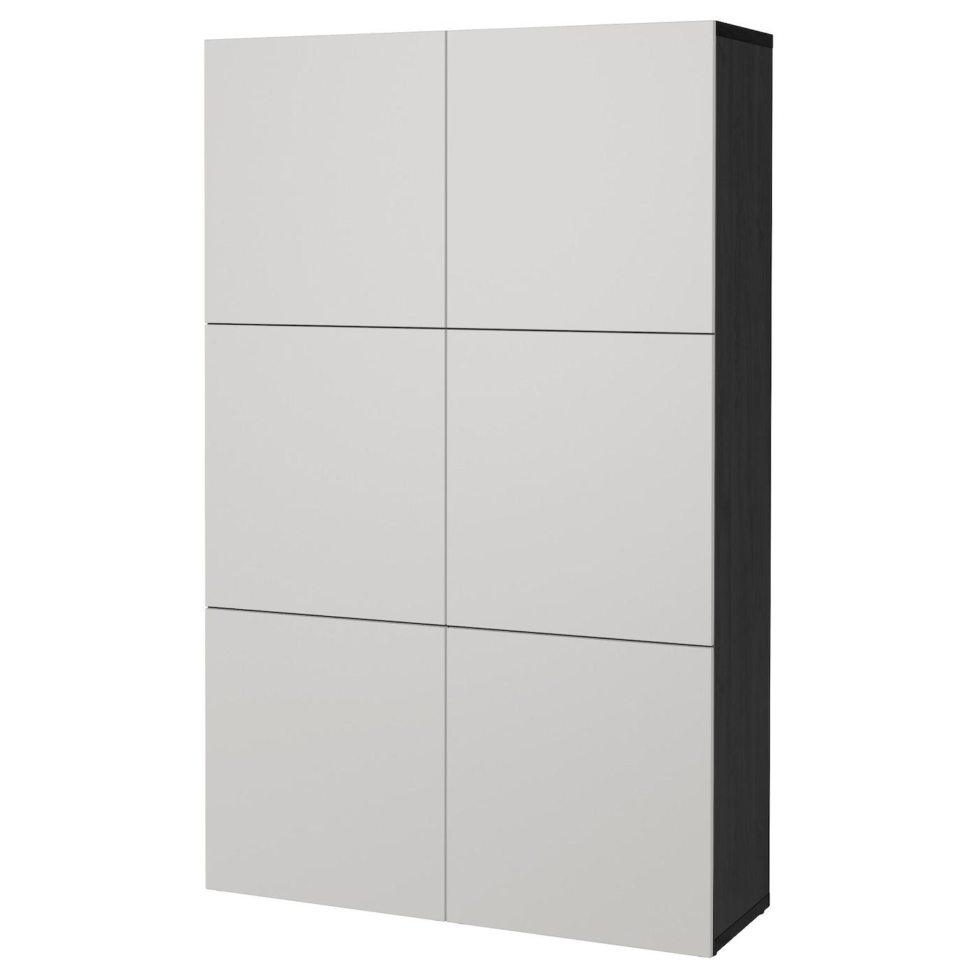 Armadio Metallico Esterno Ikea mobile con ante bestÅ marrone-nero, lappviken grigio chiaro