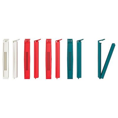 BEVARA Clip per chiudere i sacchetti, colori vari