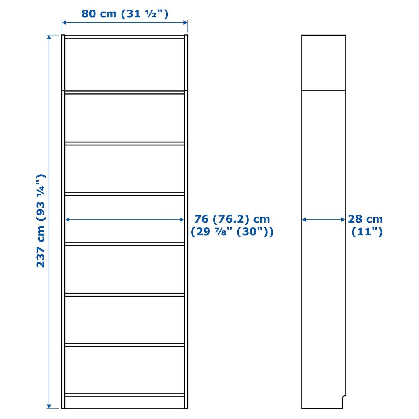 Libreria BILLY bianca Larghezza 80cm Profondit/à 106cm 28cm Altezza
