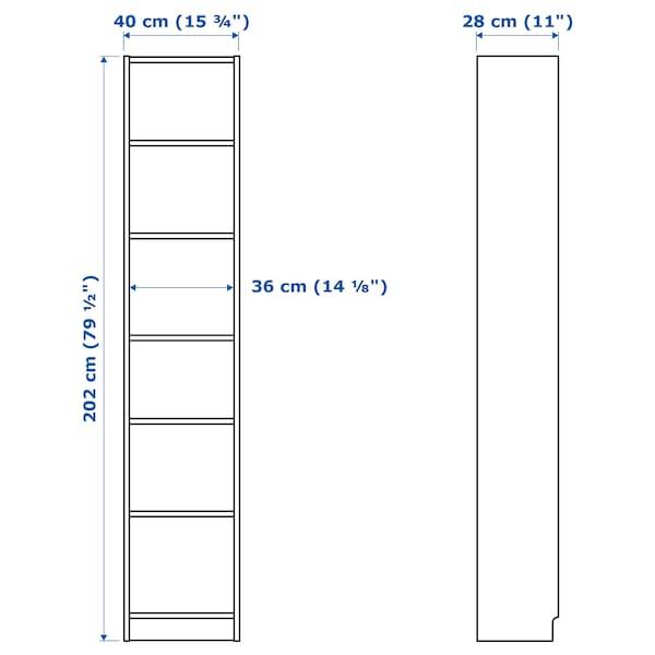 BILLY Libreria, bianco, 40x28x202 cm