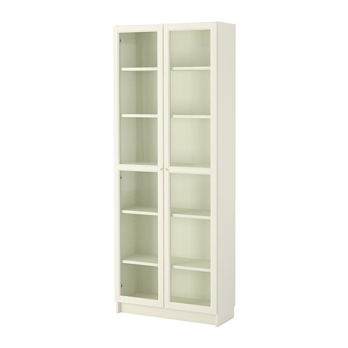 Billy oxberg libreria bianco 80x202x30 cm ikea Libreria billy ikea