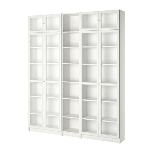 Billy oxberg libreria bianco 200x237x28 cm ikea for Ikea scaffali librerie