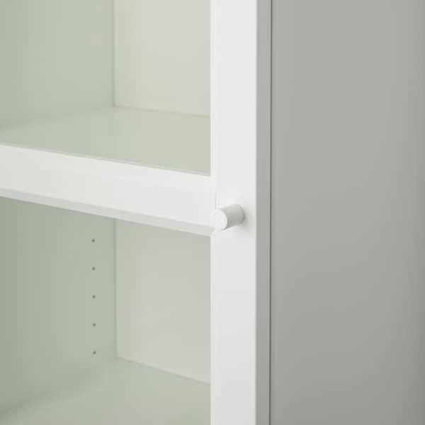 BILLY / OXBERG Libreria con anta a vetro, bianco/vetro, 40x42x202 cm