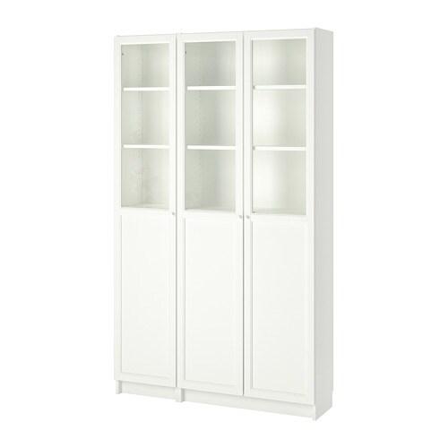 Billy oxberg libreria con pannello ante a vetro bianco vetro ikea - Ante billy ikea ...