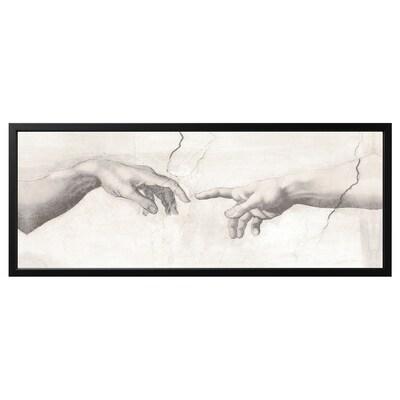 BJÖRKSTA Canvas con cornice, Tocco/nero, 140x56 cm