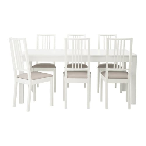 Bjursta b rje tavolo e 6 sedie ikea for Bjursta tavolo