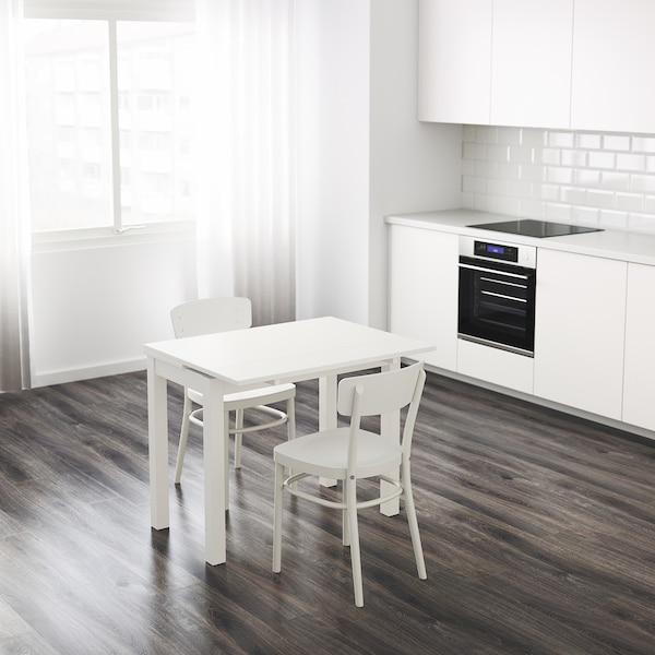 Tavoli Allungabili Da Cucina Ikea.Bjursta Tavolo Allungabile Bianco 50 70 90x90 Cm Ikea