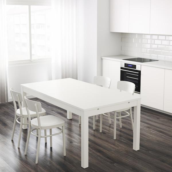 BJURSTA Tavolo allungabile, bianco, 175/218/260x95 cm