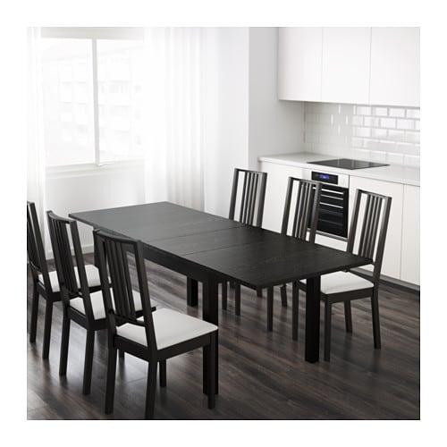 BJURSTA Tavolo allungabile - marrone-nero - IKEA