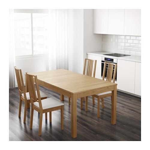 Bjursta tavolo allungabile impiallacciatura di rovere ikea - Tavolo cucina allungabile ikea ...