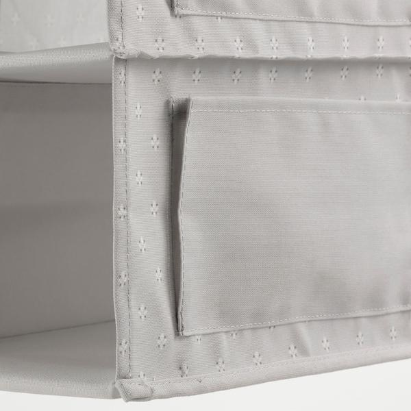 BLÄDDRARE Portatutto pensile a 7 scomparti, grigio/fantasia, 30x30x90 cm