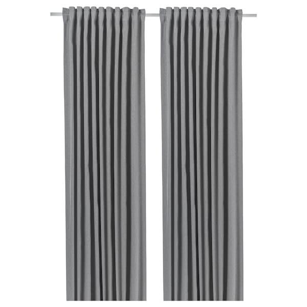 BLÅHUVA Tenda semioscurante, 2 teli, grigio chiaro, 145x300 cm