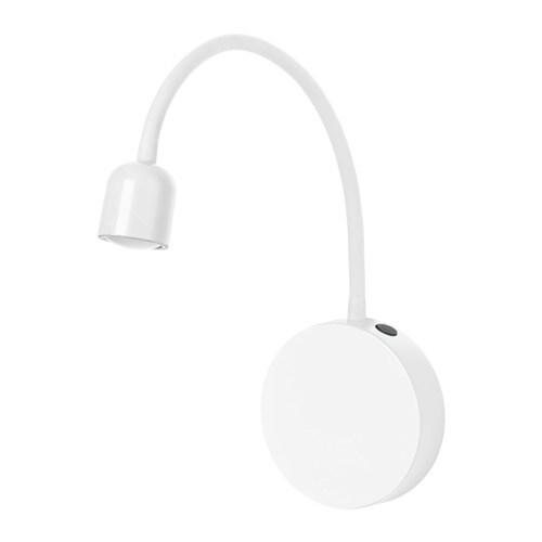 Bl vik lampada da parete a led a batterie bianco ikea for Lampade da parete ikea