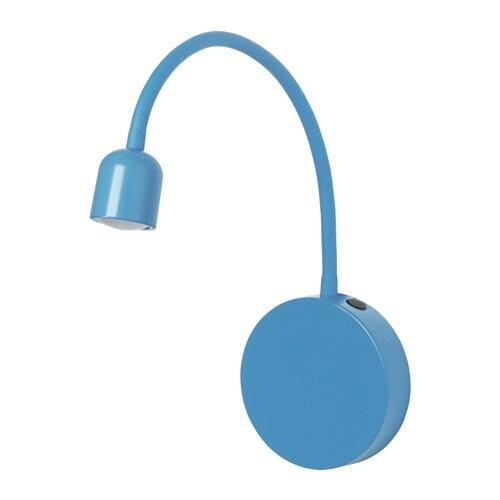 Bl vik lampada da parete a led a batterie blu ikea - Lampada a led ikea ...