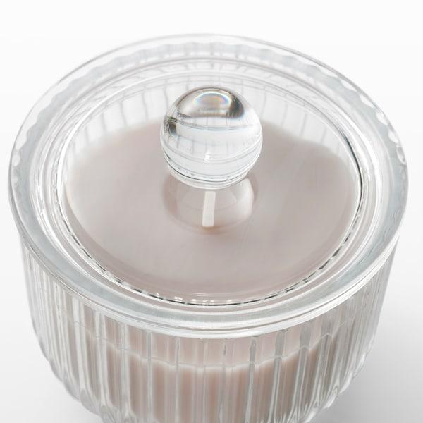 BLOMDOFT Candela profumata con vetro, Gladiolo/grigio, 9 cm